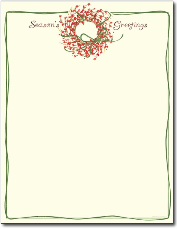 Christmas Letterhead Template Search Results