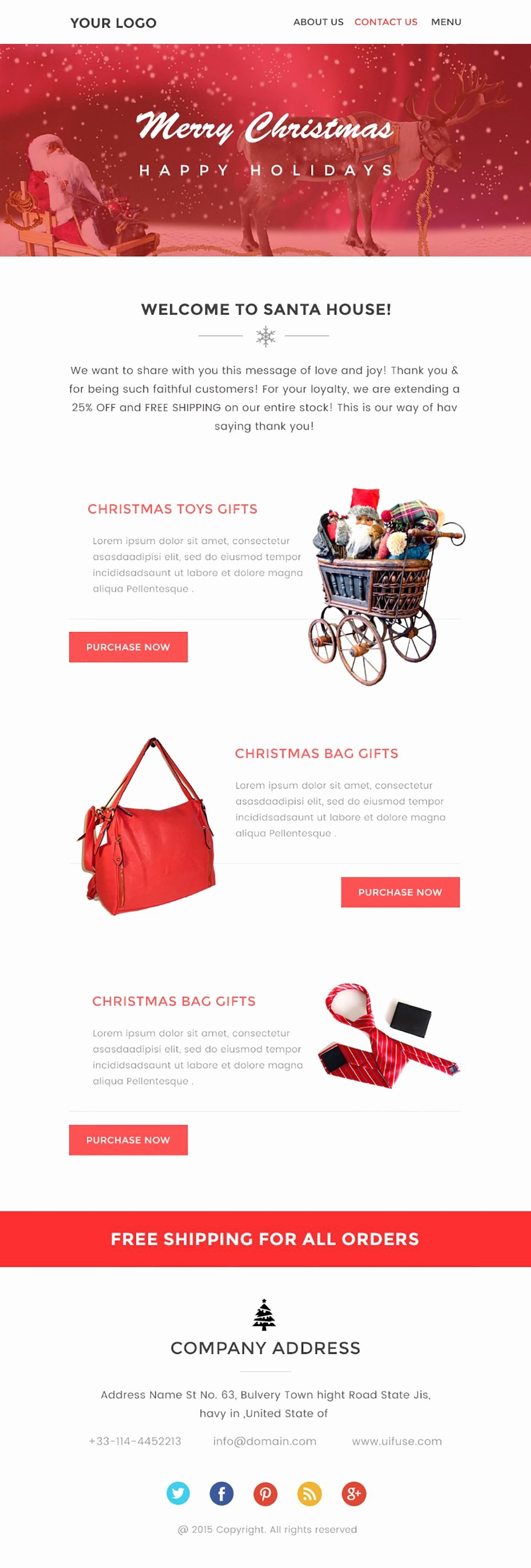 Christmas Newsletter Template – Free Psd Download Uifuse
