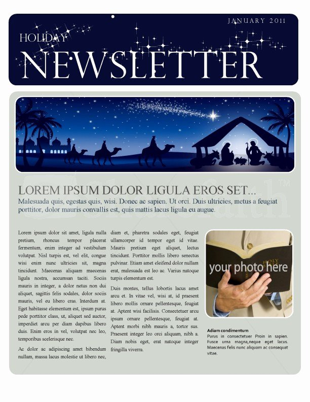 Christmas Newsletter Template Template
