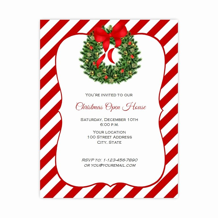 Christmas Open House Flyer Template Free Templates Data