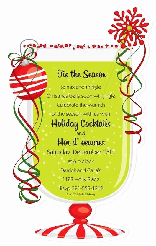 Christmas Open House Invitation Template Free Templates