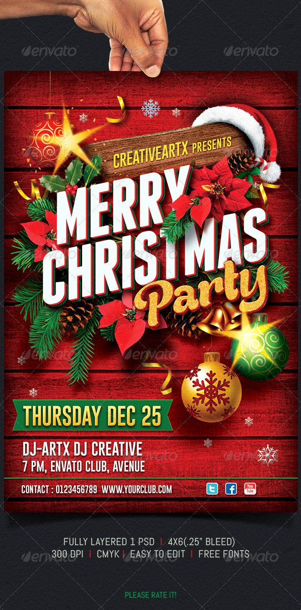 Christmas Party Flyer by Creativeartx
