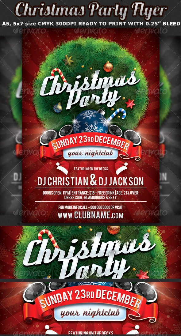Christmas Party Flyer Celebration Template by Hotpin