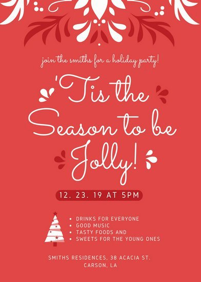 Christmas Party Flyer Templates by Canva