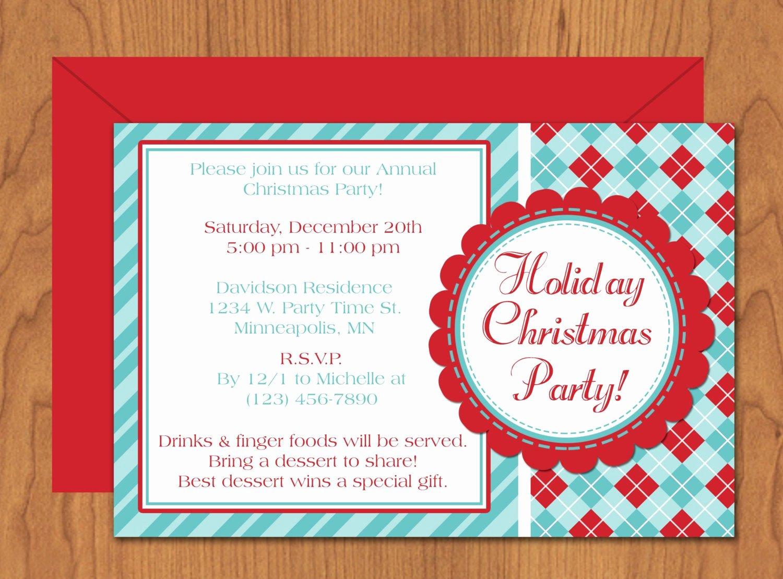 Christmas Party Invitation Editable Template Microsoft