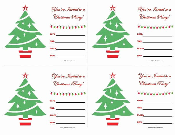 Christmas Party Invitations Free Printable