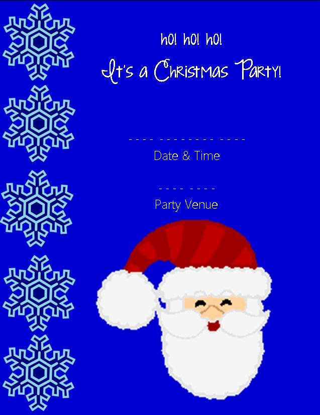 Christmas Party Invitations Templates 2018 Free Printables