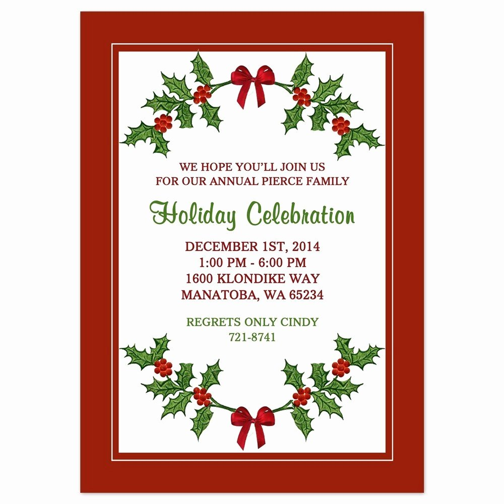 Christmas Party Invite Border
