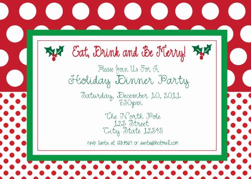 Christmas Party Invites Template