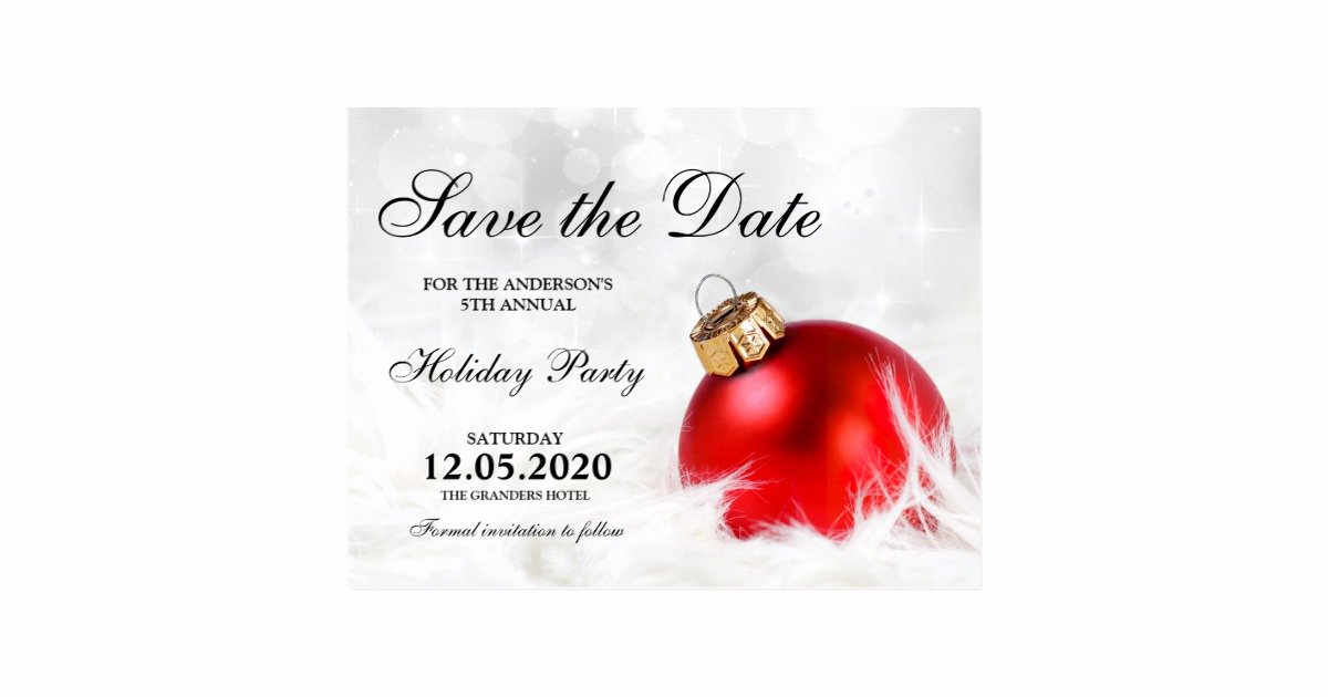 Christmas Party Save the Date Templates Postcard