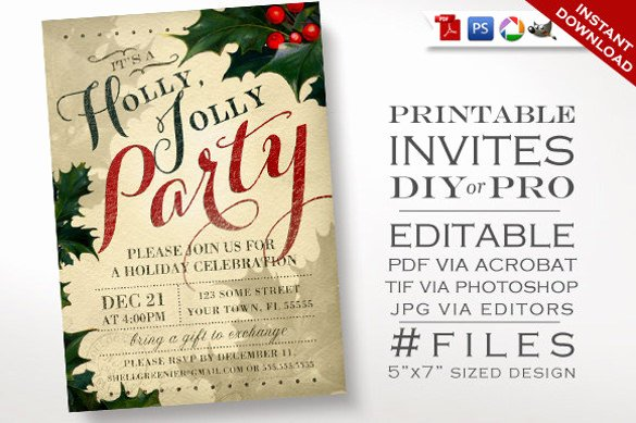 Christmas Party Template Free Download Beautiful