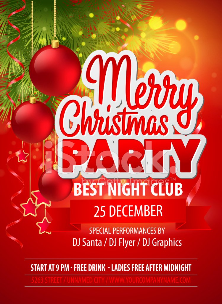 Christmas Party Vector Template Stock Vector Free