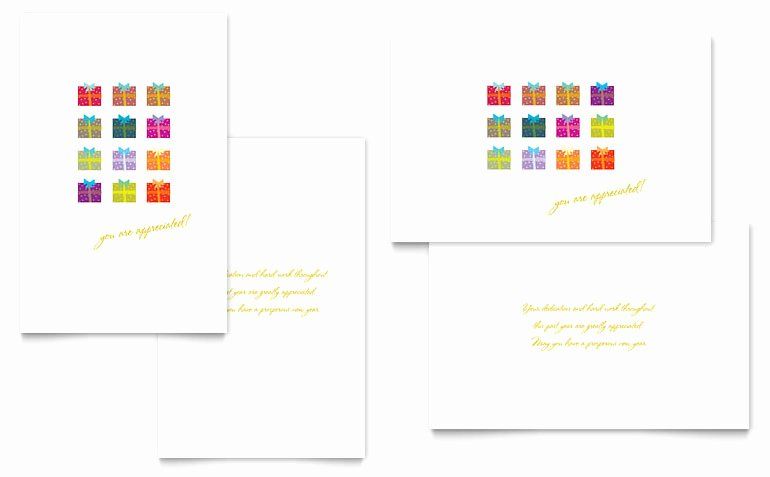 Christmas Presents Greeting Card Template Word & Publisher