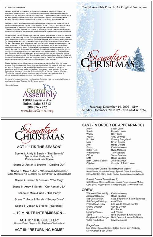 Christmas Programs Templates for Church Templates