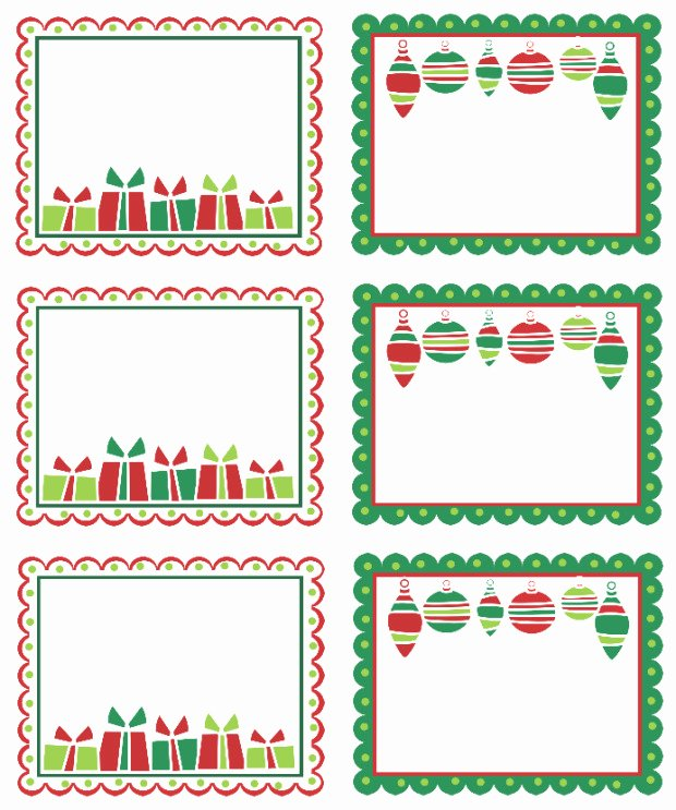 Christmas Shipping Label Template Free Templates