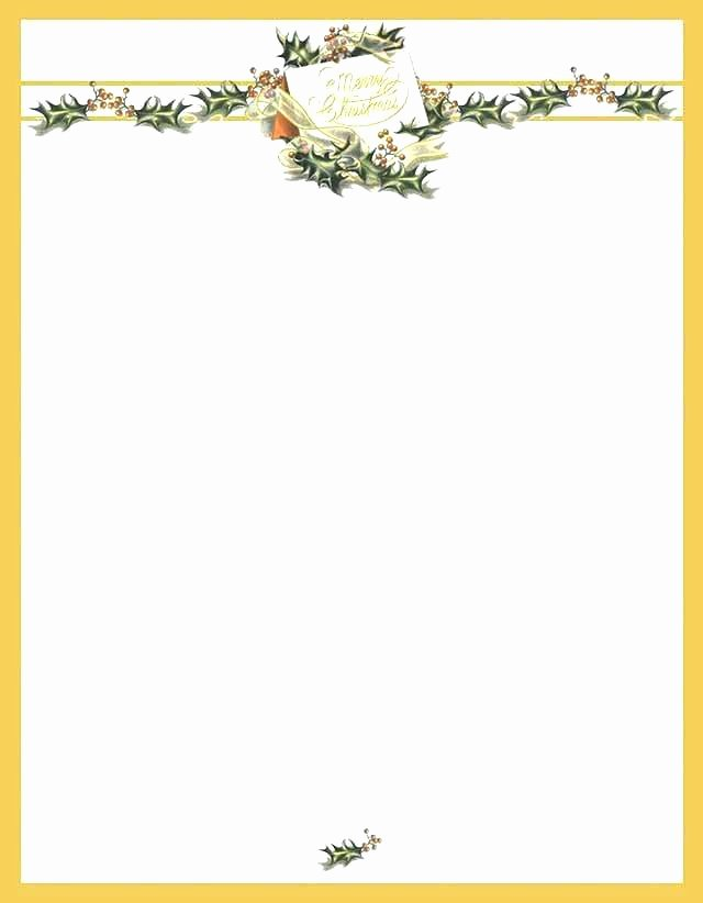 Christmas Stationary Template Free Letter Templates Better