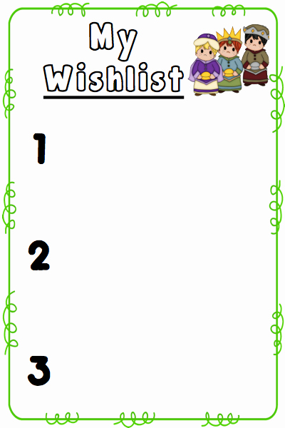 Christmas Wishlist Templates Freebie