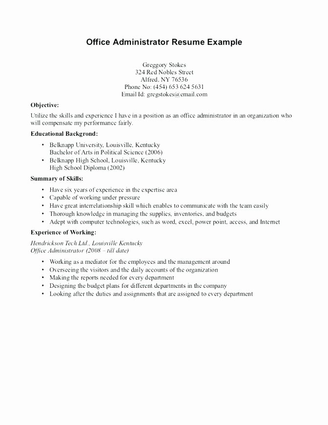 Chronological order Resume Example – Resume Ideas
