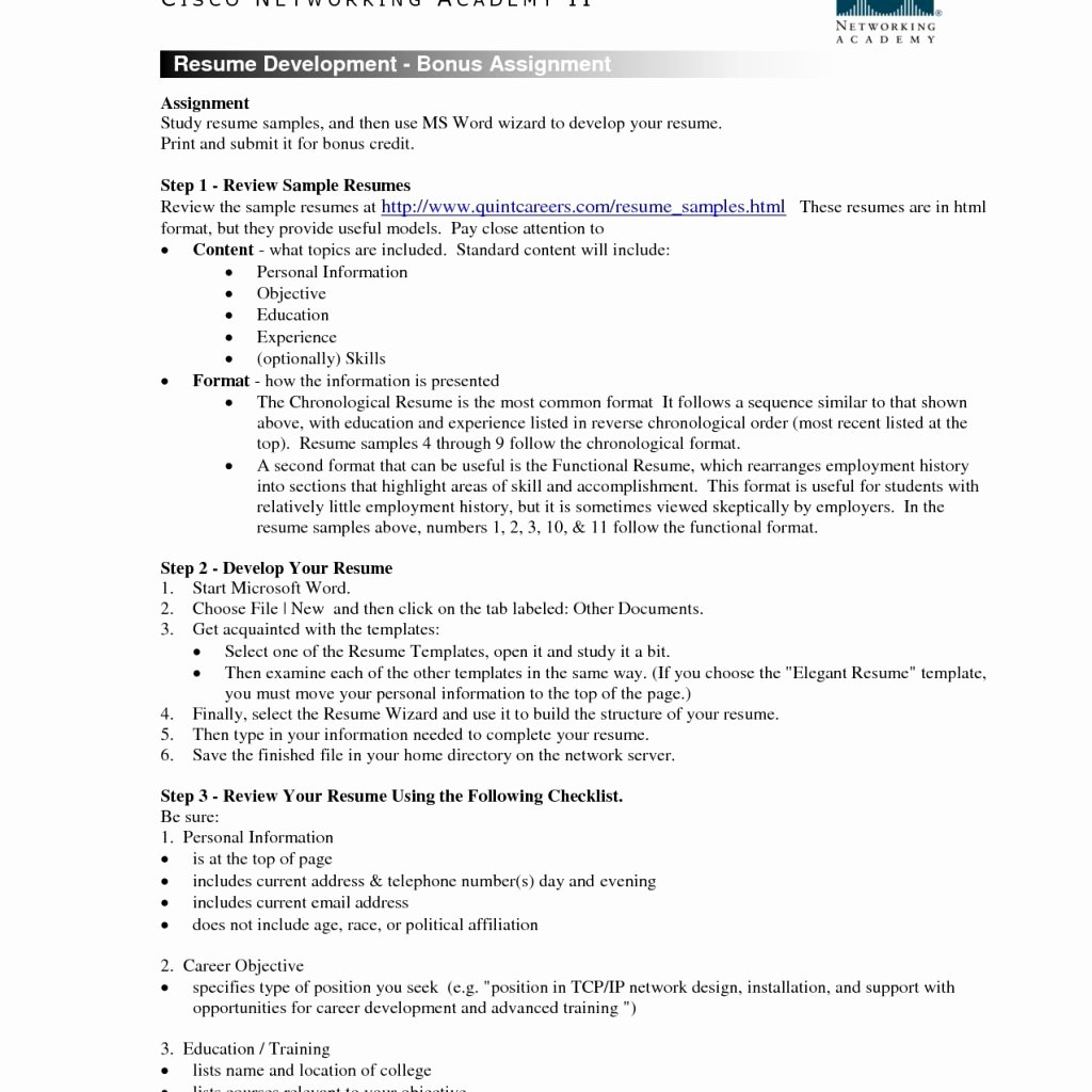 Chronological Resume Resume Examples 10 Samples Resume