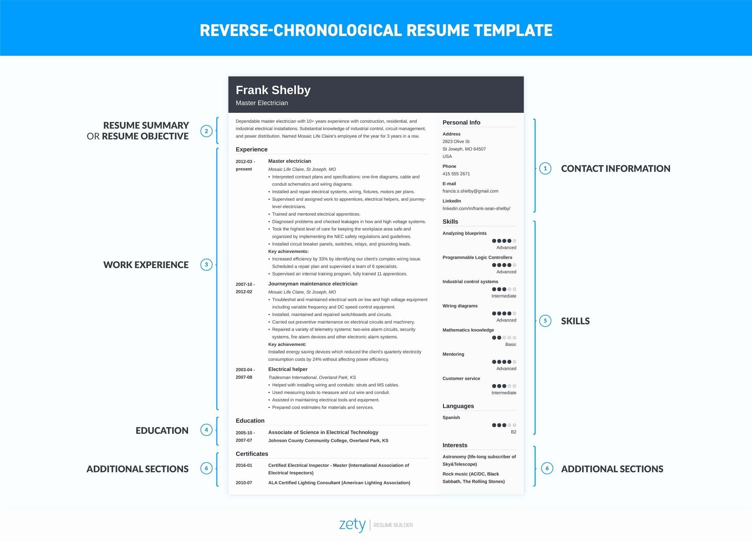 Chronological Resume Template & 20 Examples [ Plete Guide]