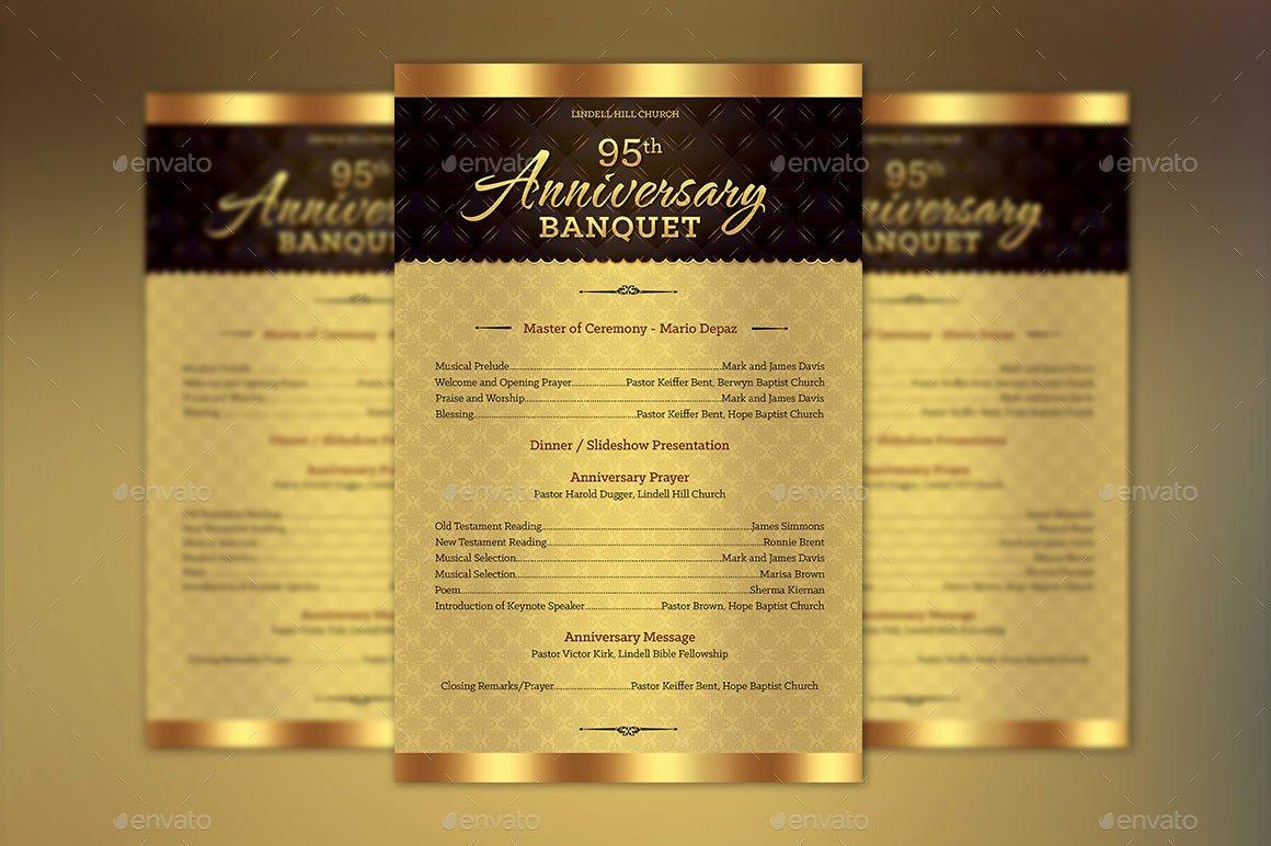 Church Anniversary E Sheet Program Template by Godserv