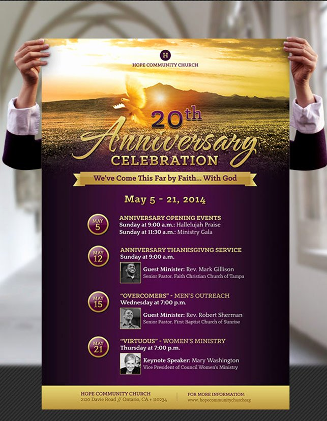 Church Anniversary Flyer and Poster Template