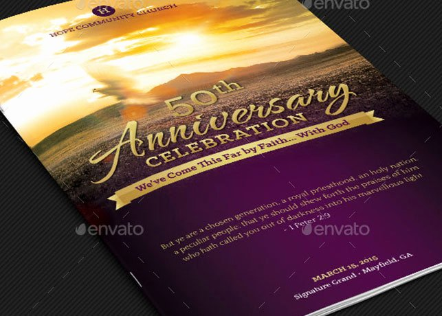 Church Anniversary Program Template Templates Resume