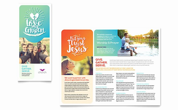 Church Brochure Template Word & Publisher
