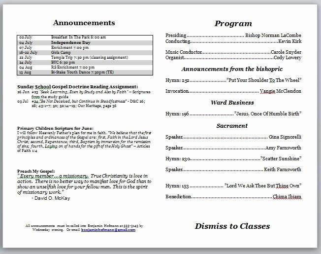 Church Bulletin Insert Template Templates Resume