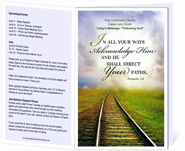 Church Bulletin Templates Railroad Church Bulletin