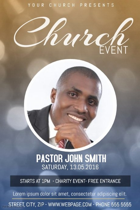 Church event Flyer Template with E