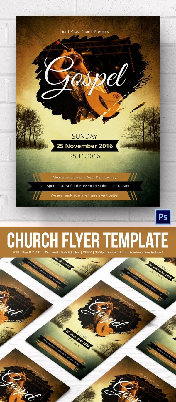Church Flyers 26 Free Psd Ai Vector Eps format