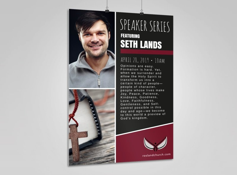 Church Guest Speaker Poster Template