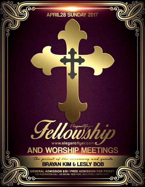 Church Meeting event Psd Flyer Template Download Free