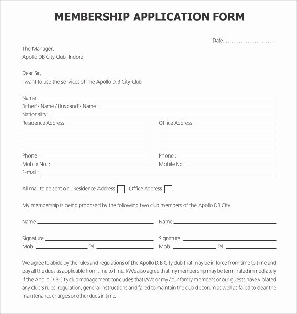 Church Membership Application Template Templates