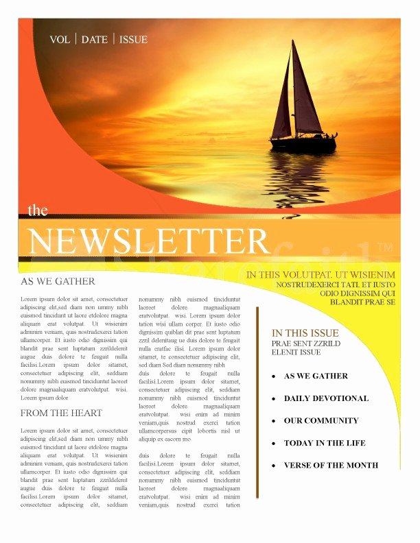 Church Newsletter Templates Template