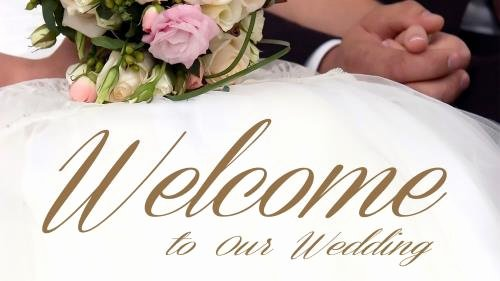 Church Powerpoint Template Wedding Wel E Bouquet