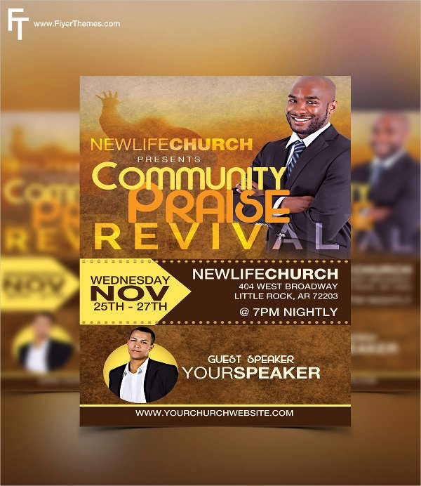 Church Revival Flyer Template Free Templates Resume