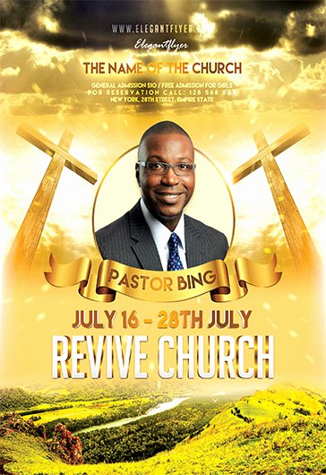 Church Revival Flyer Template Free Yourweek 6ce574eca25e