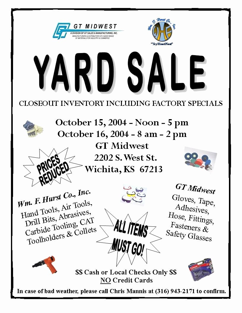 Church Yard Sale Flyer