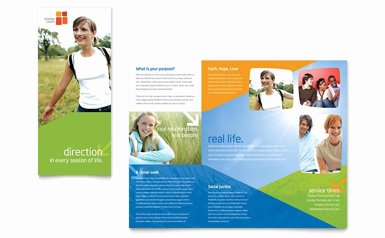 Church Youth Ministry Brochure Template Word & Publisher
