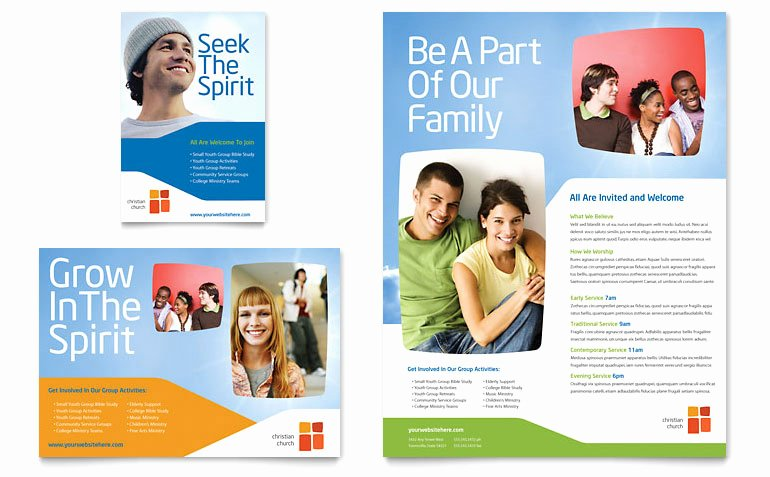 Church Youth Ministry Flyer & Ad Template Word & Publisher