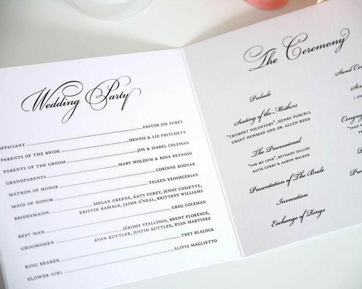 Circle Monogram Wedding Programs