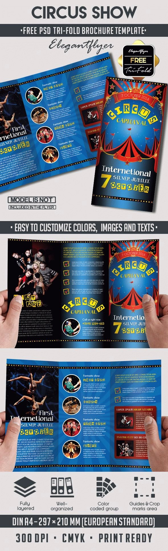 Circus – Free Psd Tri Fold Psd Brochure Template – by
