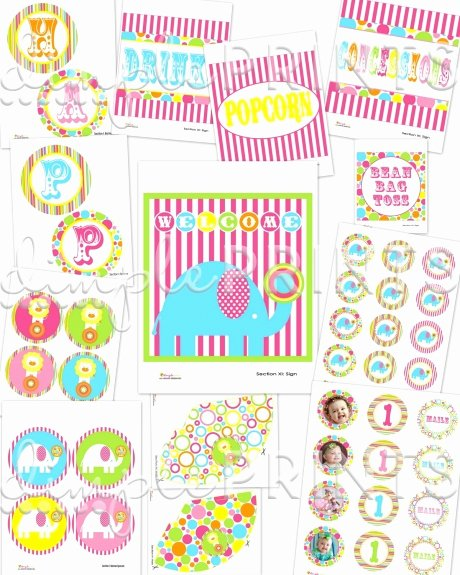 Circus Girl Printable Party Package Dimple Prints Shop