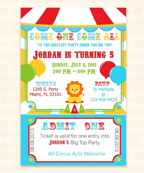 Circus Invitation Template Invitation Template
