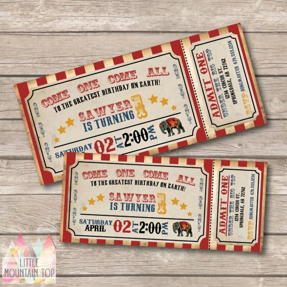 Circus Party Invitation Template 24 Free Jpg Psd