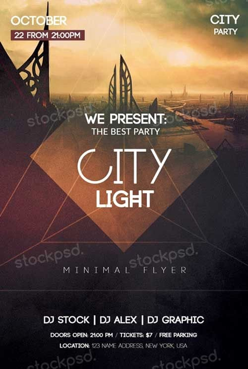City Light Free Psd Flyer Template Freepsdflyer