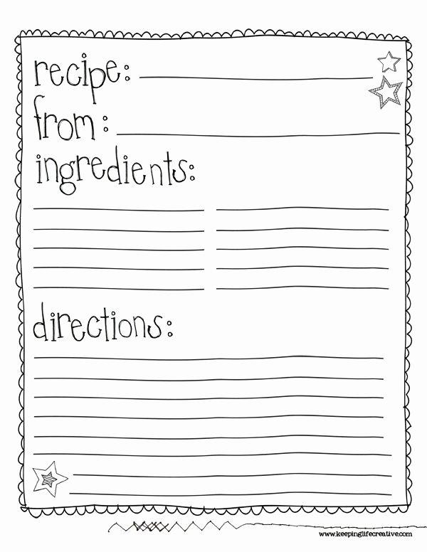 Class Recipe Book Template Google Search