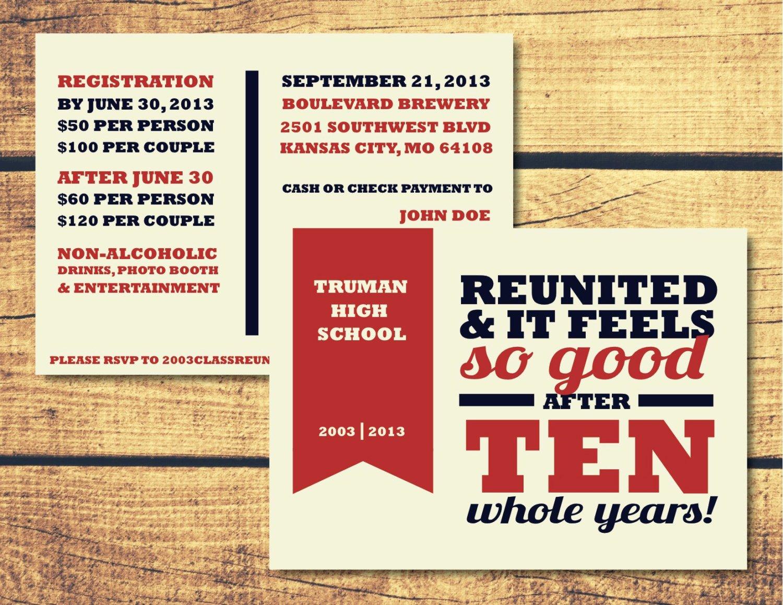 Class Reunion Flyer Template Yourweek 409b30eca25e